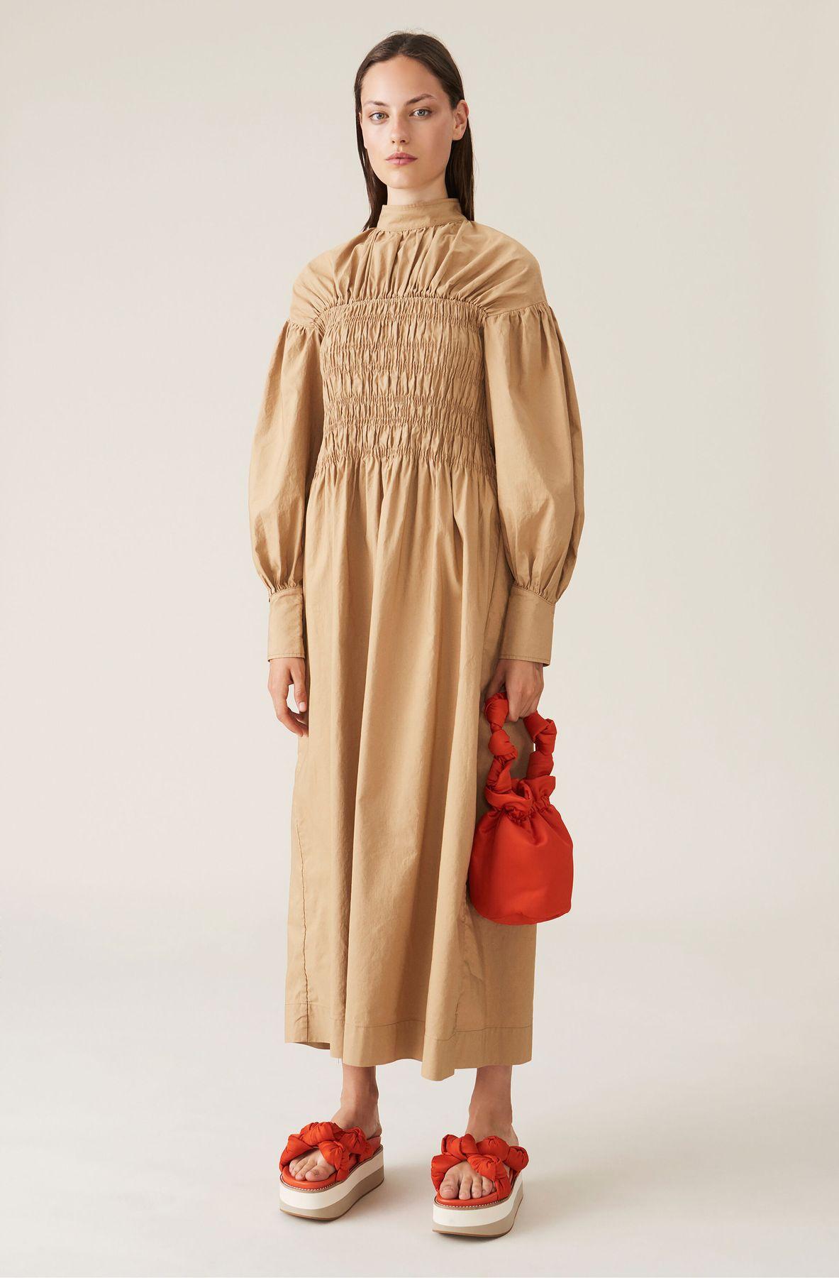 Pilot Client_Caughley model wears Ganni dress.